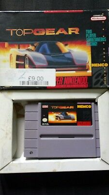 Top gear Snes super nintendo boxed with instructions usa