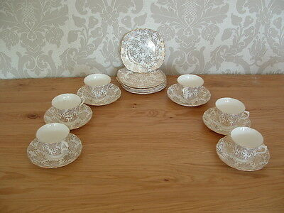 Vintage 6 Place Setting Royal Vale Tea Service