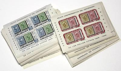 Uruguay 64 x 1967 Air Centenary Miniature Sheets MNH SGMS1333