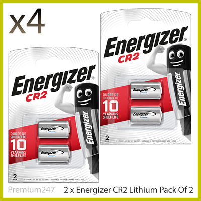 4 x Energizer CR2 3v Lithium Photo Battery DLCR2 - Pack of 2 with Longest Expiry