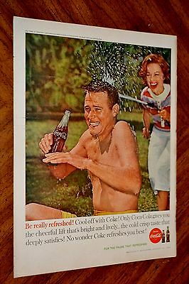 1958 Coca Cola Classic Summer Fun Coke Ad + Schenley Whiskey Canadian Ad On Back