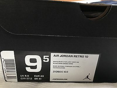 "Nike Air Jordan 10 ""steel"" Uk 8.5 Us 9.5"
