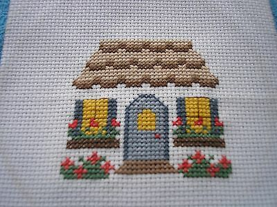 5 Completed cross stitch, Cottages.