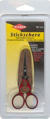 Kleiber Embroidery Scissors with Protective Cover - 90mm