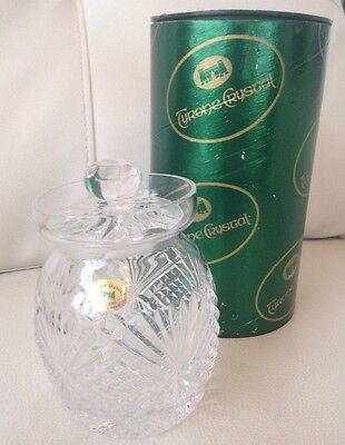 """New Boxed Tyrone Crystal """"Coleraine Jar"""". VGC Unwanted Gift. Vintage"""