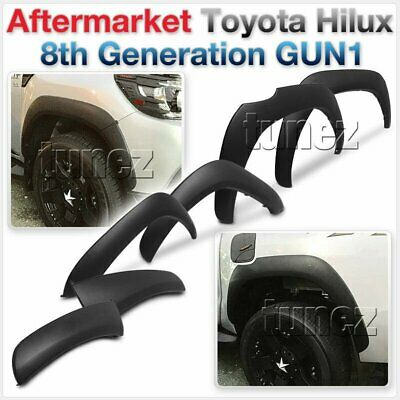 Fender Flare Kit Black For Toyota Hilux 2015-ON GUN1 Flares TRD Wheel Arch Tunez
