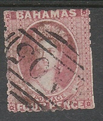 Bahamas 1862 Qv Chalon 4D No Wmk Perf 11.5,12 Used Spacefiller