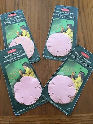 Vintage RETRO 70s Rubbermaid BATHTUB BATH APPLIQUES 4 Pink Set Sealed Packaging