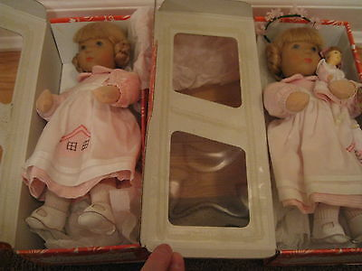 "Pair of 10""1992  LIMITED Edition of 20 Kathe Kruse MURIEL both MIB  twin girls"