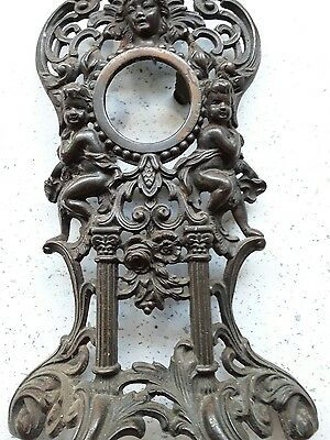 Antique Art Nouveau clock housing No 690440 Iron Frame Woman and Cherubs