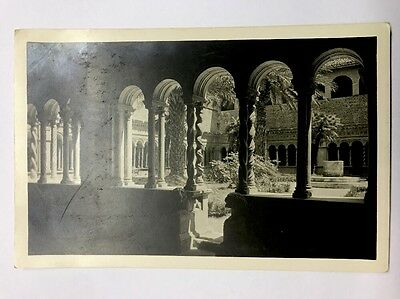 Black And White Vintage Postcard Italy Rome S. Giovanni In Laterano Chiostro