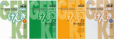 UPS 3-7 Days to USA GENKI 2 Integrated Course Elementary Japanese Work&Text 4Set