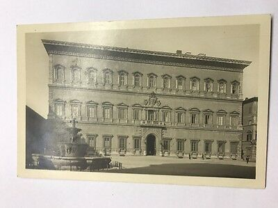 Black And White Vintage Postcard Italy Rome Palazzo Farnese Ambasciata Unused