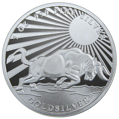 Silver Bull - Greek Hero Atlas 1 oz .999 Silver BU Round USA Made Pre-Sale Coin