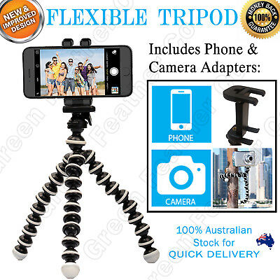 Flexible Octopus Tripod Stand | Universal Camera and Phone | 2 in 1 Mount