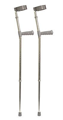 Aidapt Pvc Wedge Handle Elbow Crutch 775-1055 mm Silver/Grey Medium