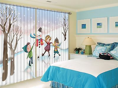 3D Cartoon 726 Blockout Photo Curtain Printing Curtains Drapes Fabric Window CA