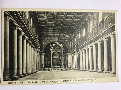 Black And White Vintage Postcard Italy Rome  Chiesa Di S. Maria Maggiore Unused