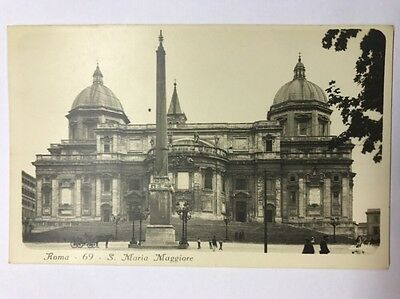 Black And White Vintage Postcard Italy Rome S. Maria Maggiore Unused