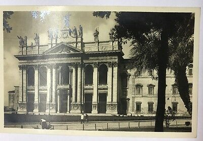 Black And White Vintage Postcard Italy Rome Basilica S. Giovanni In Laterano