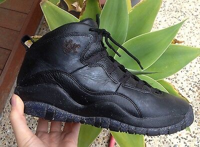 Nike Air Jordan Retro 10 NYC Leather Basketball Sports Trainers Sneakers Shoes