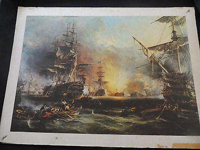 Bombardment of Algiers 27 August 1816 by George Chambers, Senior, ca 1836