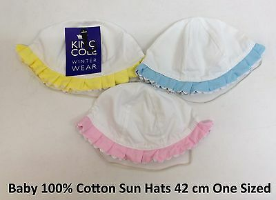 Baby Infants Boys Girls Cotton Beach Sun Hat Cap Holiday Hats Caps 1 Size 42 CM