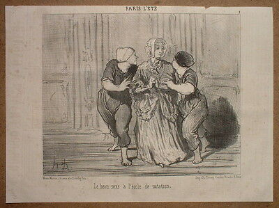 Phd - Daumier 1852 Hd-2197 Paris L'ete - Girls A L'ecole De Nation