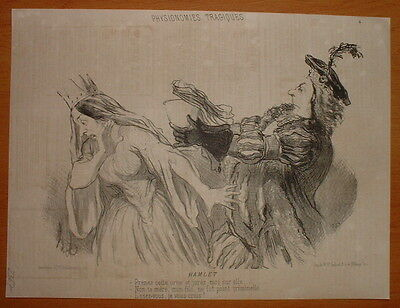 Phd - Daumier 1851 Physionomie Theatre Tragique Hd-2367/4 - Hamlet
