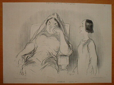 Phd - Daumier 1851 Physionomie Theatre Tragique Hd-2368/5 - Athalie