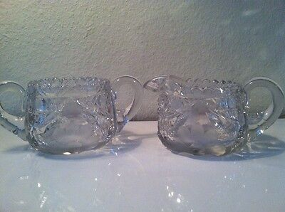 A Stunning Antique Glass/Crystal Sugar and Creamer Set