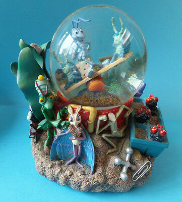 Disney Its A Bug's Life Musicial Snow Globe with box Plays A Bugs Life Flic