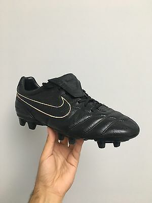 Nike Tiempo Legend II Firm Ground Blackout Football Soccer Boots Size 10uk 11us