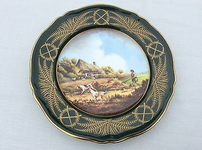 Spode Plate With Shooting Scene