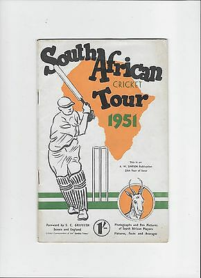 South Africian Official Tour Brochure to England 1951