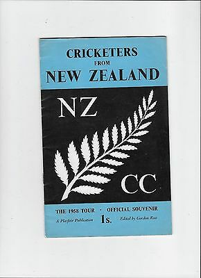 Official Brochure 1958 Cricket Tour of England by New Zealand