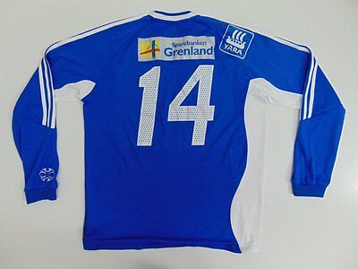 2006 Adidas Pors Grenland Norway Norge home shirt football long sleeve L #14