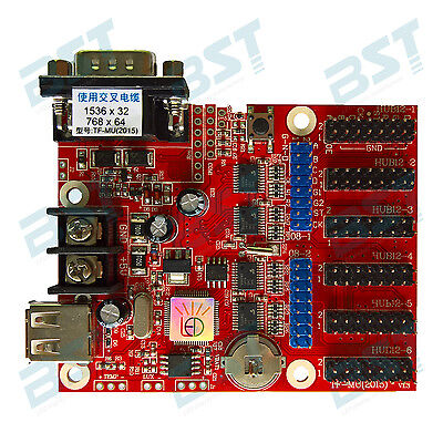 TF-MU control card for programmable led moving sign with USB connect
