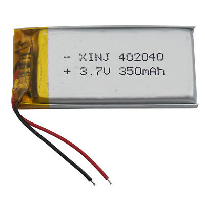 3.7V 350 mAh Polymer Li battery For GPS Camera bluetooth headset sat Nav 402040