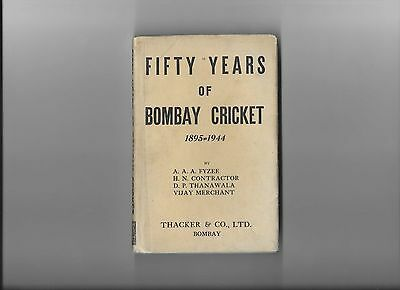 Fifty Years of Bombay Cricket 1895 - 1944 , 1946 first edition Rare inc dustwrap