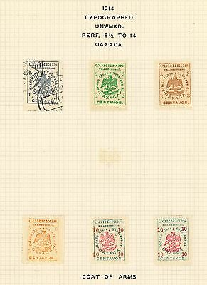 Mexico 1914 Revolution Oaxaca Stamps: Ra Carter Collection