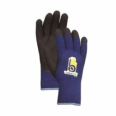 Bellingham Glove C4005M Medium Blue Thermal Knit Gloves With Rubber Palm
