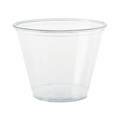 Solo Foodservice TP9R Cold Cup 9 oz Clear Squat ( Pack of 1000 ) 1