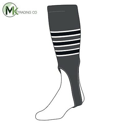 "TCK® Large, 300D, 7"" - Graphite–White–Black - MLB® Baseball Stirrups"