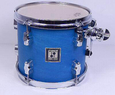 "Sonor Force 2003 10"" x 10"" Tom ungebohrt Blue Schlagzeug Drums"