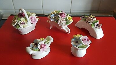 royal doulton bone china flower & others joblot of 5 royal stafford