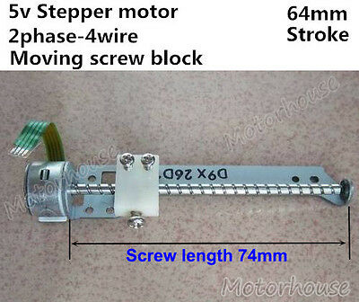 Linear Screw Position Slider DC 5V 2-phase 4-wire Stepper Motor Micro Actuator