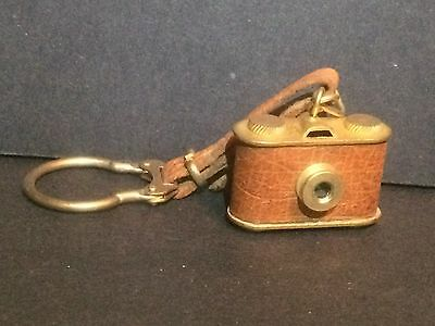 D Vintage Miniature CAMERA Keychain 1940-50's Made in Italy