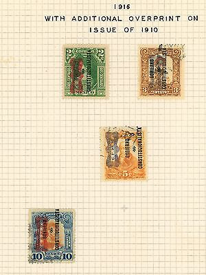 Mexico Revolution, 1916 Corbata And Gob Overprints: Ra Carter Collection