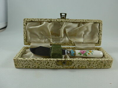 Royal Crown Derby DERBY POSIES Cheese or Butter Knife with Original Box